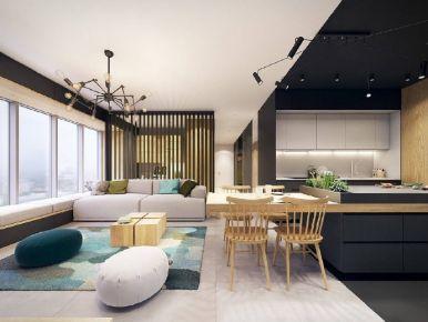 酷酷的现代三居室装修设计欣赏