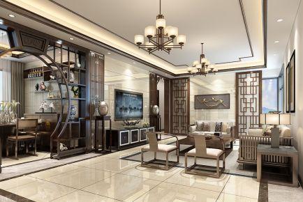 中山中式风格四居室装修效果图 东升旭景花园