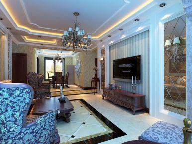 欧式风格三房装修设计效果图 绍兴越城区-御景华庭