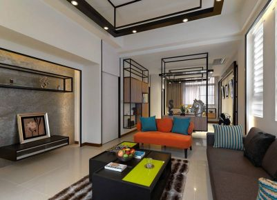 绵阳新中式风格家庭装修设计欣赏 | 上河郦岛