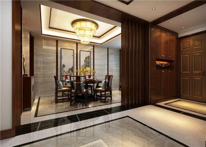 龙发装饰公司-龙之梦中式260平米六室三厅装修效果图