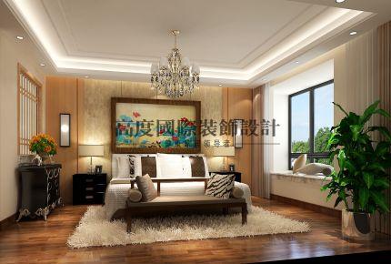成都雍湖湾新中式风格平层装修设计案例