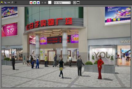 深圳红日子购物广场简约风格商铺装修设计