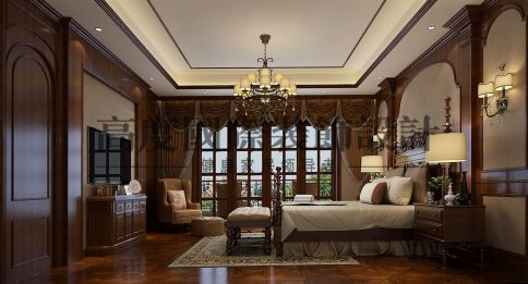 成都恒大金碧天下古典欧式风格别墅装修设计效果图