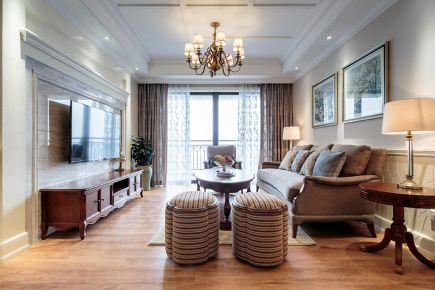 长沙简约风格三居室装修设计效果图 万里时代广场