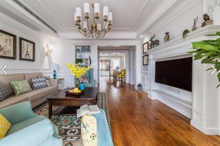 长沙欧式风格三居室装修设计 蓝光.幸福满庭