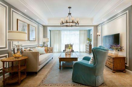 长沙星湖湾 欧式风格三居室装修设计效果图