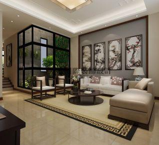 成都芙蓉锦绣新中式风格复式装修设计案例