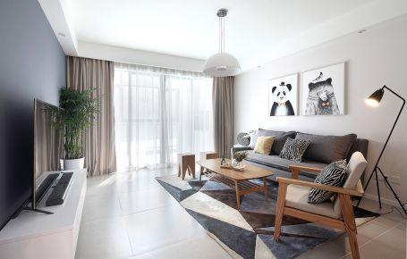 长沙简约风格两房装修设计 半岛蓝湾小区
