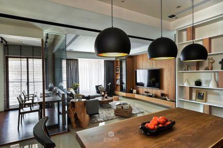 成都北欧风枫木色三居室装修设计 建发翡翠鹭洲