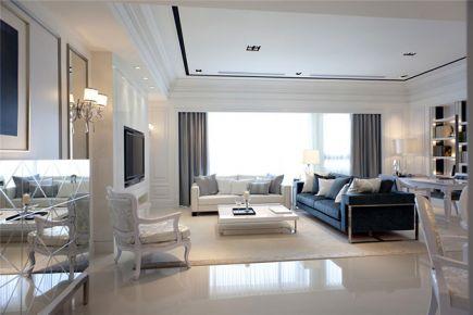 成都长城半岛城邦简欧风格三居室装修设计