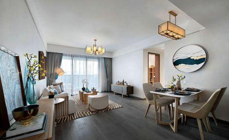 成都摩玛新城 现代中式风格两房装修设计