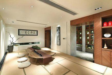 成都绿地世纪城 现代中式风格三房装修设计