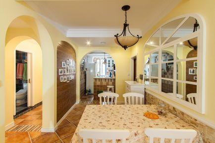 成都东原时光道 地中海风格两房装修设计