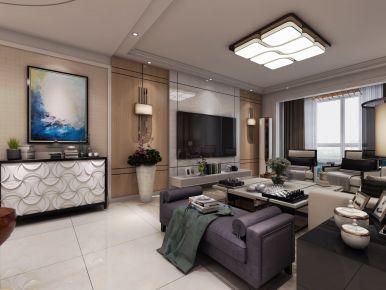 烟台现代风格三居室装修设计 金脉华府