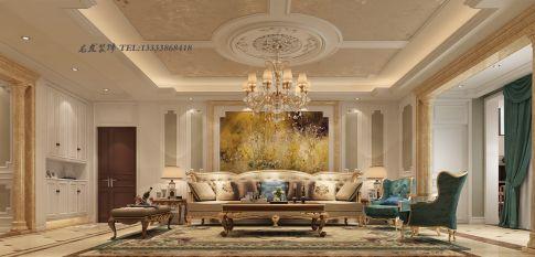 郑州龙发装饰 裕鸿世界港 欧式风格四居室装修设计