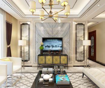 青岛装修:保利林语境混搭风格三房装修效果图分享