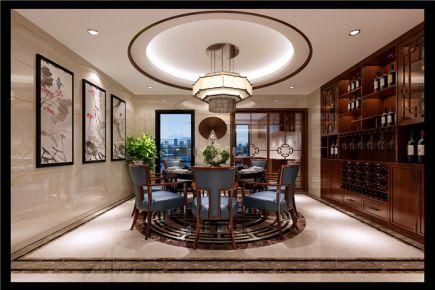 福州中式风格别墅装修设计效果图 天玺小区