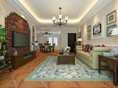 合肥美式风格三房装修设计 中海原山小区
