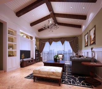 东莞美式风格四居室装修设计效果图 建华花园小区