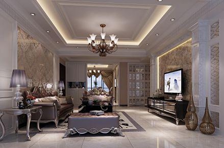 东莞简欧风格四居室装修设计 维港湾小区