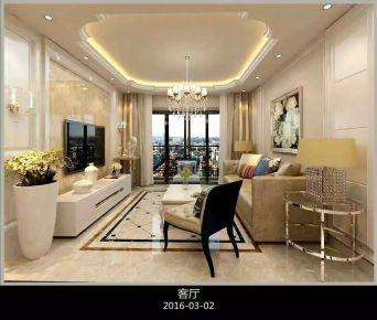 合肥欧式风格三房装修设计效果图 凯旋门小区