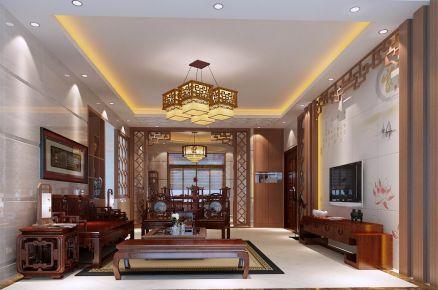 东莞中式传统风格四房装修设计 华府小区