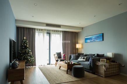 重庆春森彼岸|三居室|北欧风格装修|实景案例图