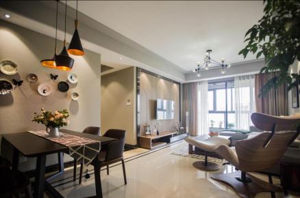 佛山博澳城小区 现代风格三房装修设计效果图