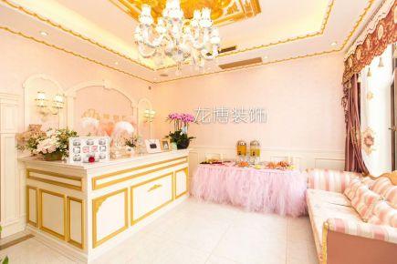 北京别墅欧式风格装修  洛可可风会所装前装后实拍图