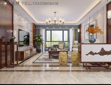 郑州龙发装饰  中孚紫东苑三室两厅中式风格装修