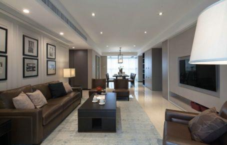 成都现代简约风格三居室装修案例欣赏 高新区傲城