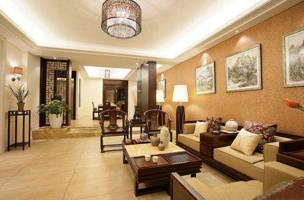 中山中海龙湾国际 中式风格家庭装修效果图