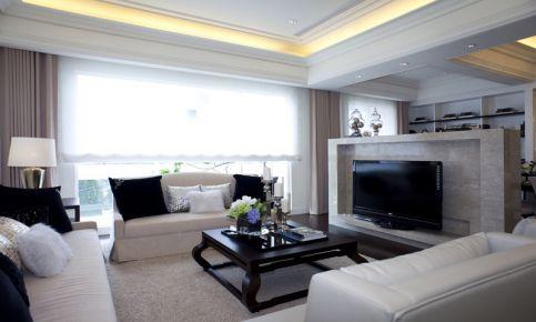 中山现代风格三居室装修设计-蓝天金地小区