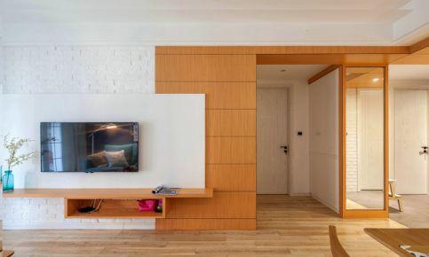 中山市创意混搭风格二居室装修设计-蓝天金地