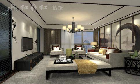 南京中式风格复式楼装修设计效果图 星雨华府