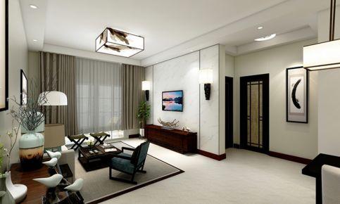 南京三居室中式风格装修设计效果图 人才公寓