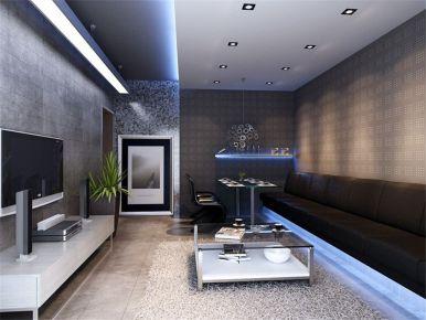 成都通瑞月光湖现代简约风格两房装修设计