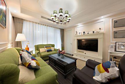 成都中国铁建北湖国际城田园风格家庭装修设计