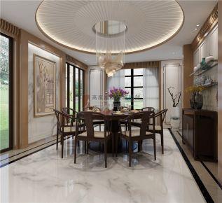 成都建发浅水湾 700平独栋别墅新中式风格装修效果图