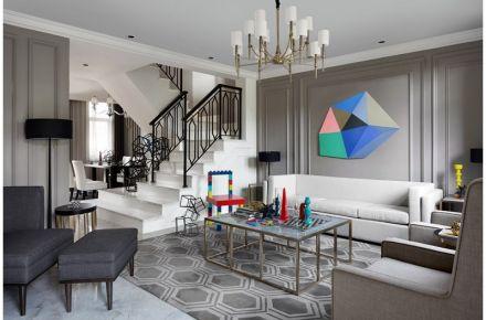 成都卓锦城 美式风格三居室装修设计