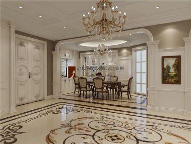 成都雅居乐花园 400平独栋别墅简欧风格装修效果图