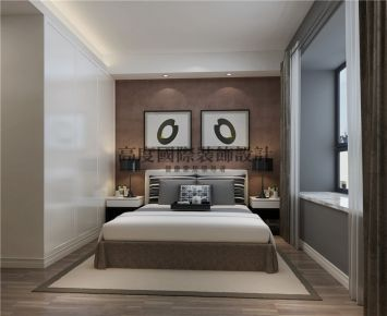 成都锦城南府 90平现代风格家庭装修效果图