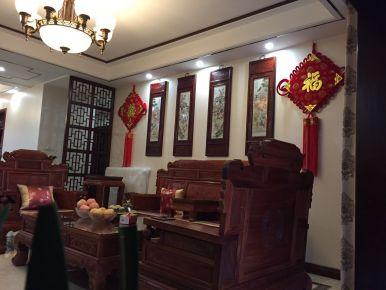 扬州中式古典风格四房装修设计 锦苑世家小区