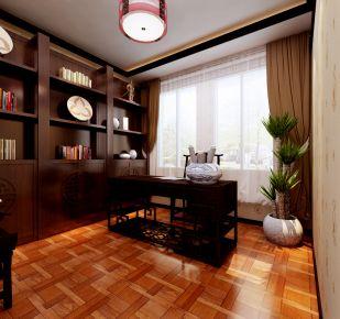 天津海逸长洲6期 中式风格四居室装修效果图