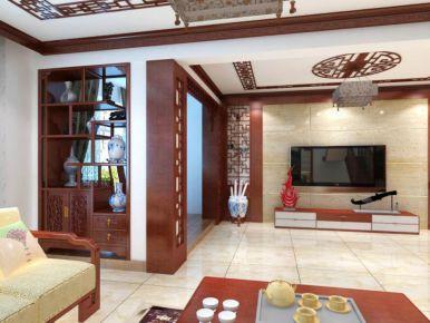 海湾城2期联排别墅  李小姐  美居  中式古典风格