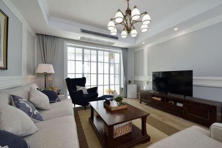 武汉美式风格三房装修设计--联投龙湾
