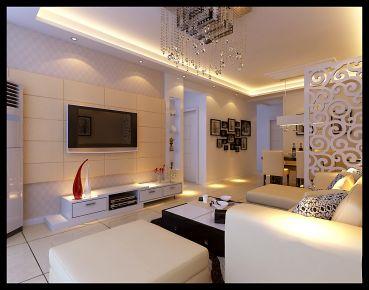武汉欧式风格三房装修设计效果图--米兰印象