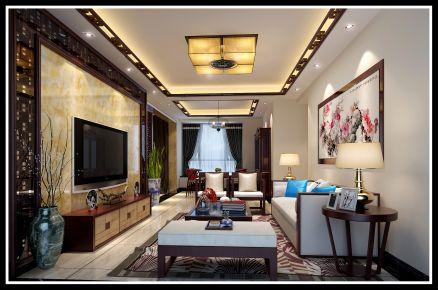 佛山新中式风格家居装修设计效果图 沿海馨庭