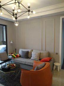 佛山简约风格三房装修设计效果图  海纳豪庭小区
